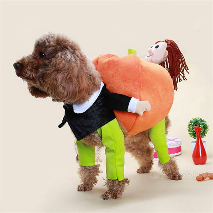 Buy Funny Novel Cute Cotton Pumpkin Dog Costume Pet Clothes (L Size) with Litecoins with Free Shipping on Gipsybee.com