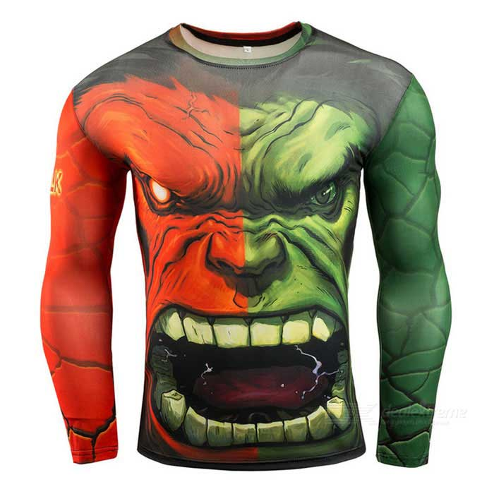 3D Printing Fast-Drying Long-Sleeved Tight-Fitting Male T-shirt (XL)Form  ColorRed + GreenSizeXLQuantity1 DX.PCM.Model.AttributeModel.UnitMaterialHigh elastic fabricShade Of ColorRedSeasonsSpring and SummerGenderMensShoulder Width42.5 DX.PCM.Model.AttributeModel.UnitChest Girth93 DX.PCM.Model.AttributeModel.UnitSleeve Length69 DX.PCM.Model.AttributeModel.UnitTotal Length72.5 DX.PCM.Model.AttributeModel.UnitWaist0 DX.PCM.Model.AttributeModel.UnitHip Girth0 DX.PCM.Model.AttributeModel.UnitCrotch Length0 DX.PCM.Model.AttributeModel.UnitThigh Girth0 DX.PCM.Model.AttributeModel.UnitLength Of Hem0 DX.PCM.Model.AttributeModel.UnitTotal Length0 DX.PCM.Model.AttributeModel.UnitSuitable for Height170~180 DX.PCM.Model.AttributeModel.UnitBest UseCross-training,Yoga,Running,Family &amp; car camping,Backpacking,Travel,CyclingSuitable forAdultsPacking List1 * T-shirt<br>