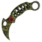 Outdoor Camping Woodpecker Style Folding Knife - Camouflage Yellow