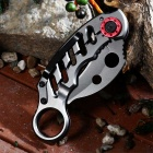 Outdoor Sports Camping Stainless Steel Folding Knife - Black + Gray