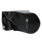 Camera Case Crazy Horse Leather for FujiFilm XA3 - Black