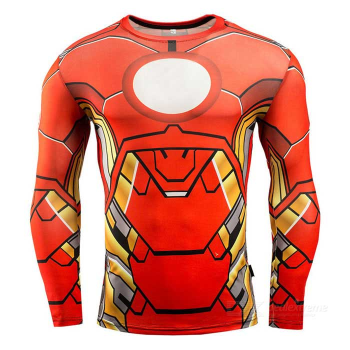 3D Printing Fast-Drying Long-Sleeved Tight-Fitting Male T-shirt (XL)Form  ColorRed + YellowSizeXLModelA-2479Quantity1 DX.PCM.Model.AttributeModel.UnitMaterialHigh elastic fabricShade Of ColorRedSeasonsSpring and SummerGenderMensShoulder Width42.5 DX.PCM.Model.AttributeModel.UnitChest Girth93 DX.PCM.Model.AttributeModel.UnitSleeve Length69 DX.PCM.Model.AttributeModel.UnitTotal Length72.5 DX.PCM.Model.AttributeModel.UnitWaist0 DX.PCM.Model.AttributeModel.UnitHip Girth0 DX.PCM.Model.AttributeModel.UnitCrotch Length0 DX.PCM.Model.AttributeModel.UnitThigh Girth0 DX.PCM.Model.AttributeModel.UnitLength Of Hem0 DX.PCM.Model.AttributeModel.UnitTotal Length0 DX.PCM.Model.AttributeModel.UnitSuitable for Height170~180 DX.PCM.Model.AttributeModel.UnitBest UseCross-training,Yoga,Running,Family &amp; car camping,Backpacking,Travel,CyclingSuitable forAdultsPacking List1 * T-shirt<br>
