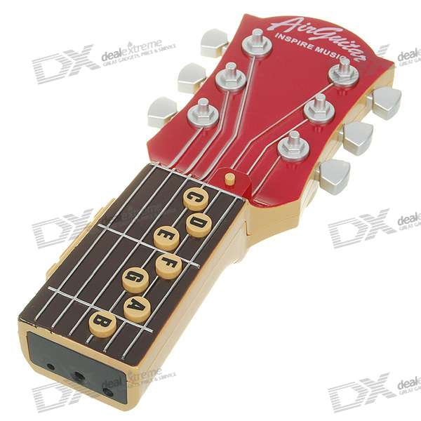 10-Music Air Guitar - Red + Black (2*AAA)Musical Instruments<br>Form  ColorBlackInstrument TypeGuitarPacking List<br>