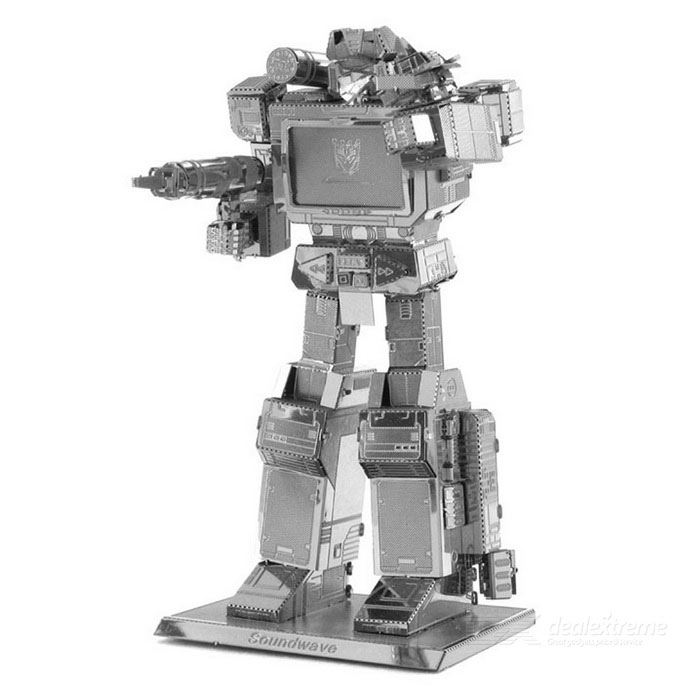 DIY 3D Metal Puzzle Assembly Soundwave Robot Model Toy - SilverBlocks &amp; Jigsaw Toys<br>Form  ColorSilverMaterialStainless steelQuantity1 DX.PCM.Model.AttributeModel.UnitNumber2Size5.1cm * 3.5cm * 8.6cmSuitable Age 5-7 years,8-11 years,12-15 years,Grown upsPacking List1 * Model Toy<br>