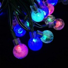 Joyshine 6W 50-LED Solar Ball Style Christmas String Light RGB Light