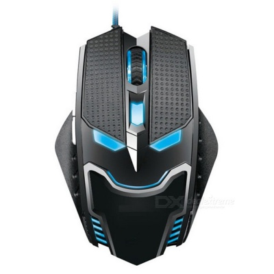 6 Keys LED Lighting Wired USB 2.0 Gaming Mouse w/ 4-speed Gear