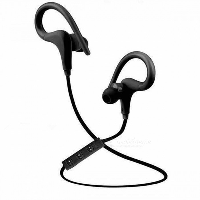 Wireless Bluetooth Sports Running Earhook Stereo Headset w/ Mic -Black