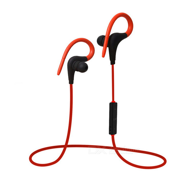 Wireless Bluetooth Sport Running Earhook Stereo Headset mit Mic - Red