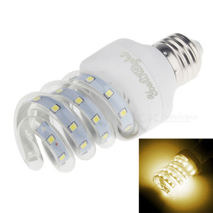 Youoklight E27 9W 23-LED 2835 SMD bulbo blanco caliente del maíz del LED (ac 220V)