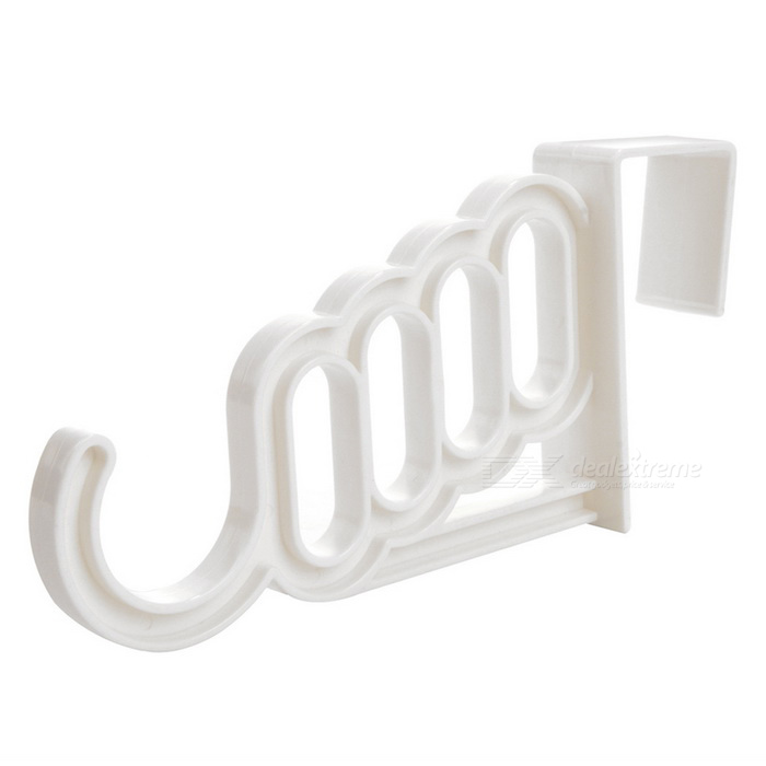 Buy Home Decoration Five-hole Plastic Hanger Hook - White with Litecoins with Free Shipping on Gipsybee.com