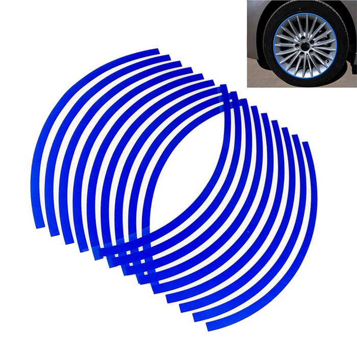 ZIQIAO DIY Car Motorcycle Wheel 1719quot Reflective Sticker- (18PCS)