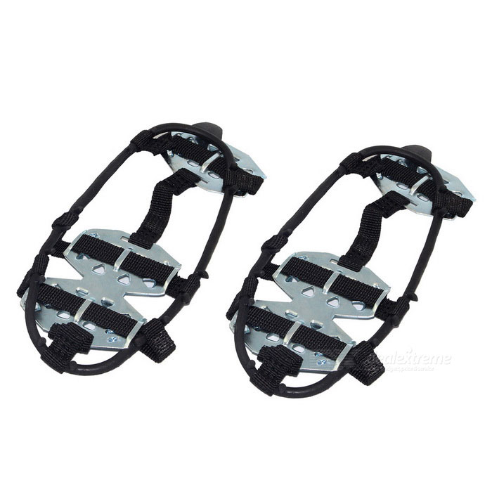 Ice Spike Cleats Crampons Snow Boot Shoe Covers - Black (M / Pair) for sale in Bitcoin, Litecoin, Ethereum, Bitcoin Cash with the best price and Free Shipping on Gipsybee.com