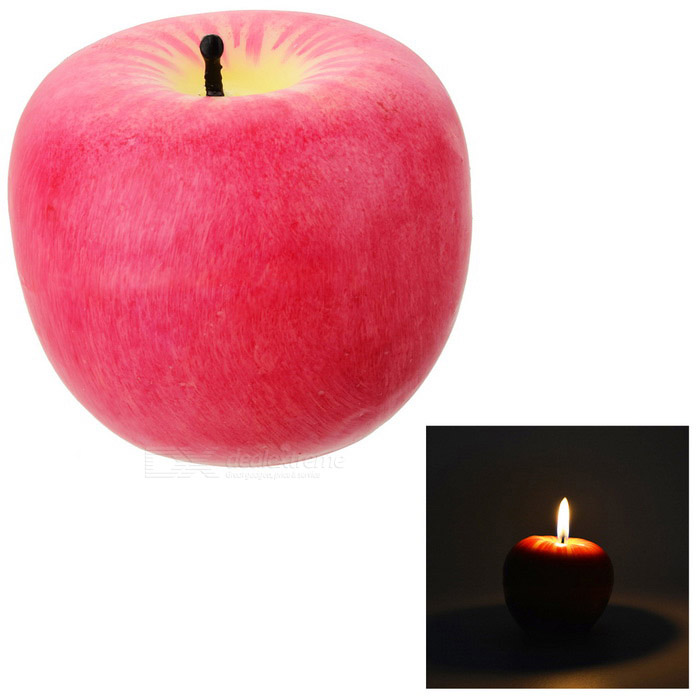 Apple Shaped Candles Light Gift for Christmas Decoration