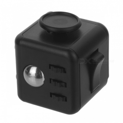 Fidget Dice Cubic Toy for Focusing / Stress Relieving - Black