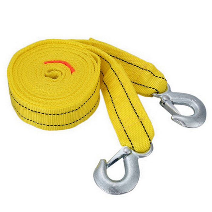 ZIQIAO 4m Trailer Rope 5 Tons Car Tow Rope - Yellow + Silver