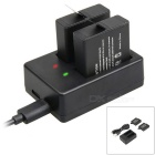 1220mAh Battery + 2-Slot Dual USB Battery Charger for Gopro Hero 5