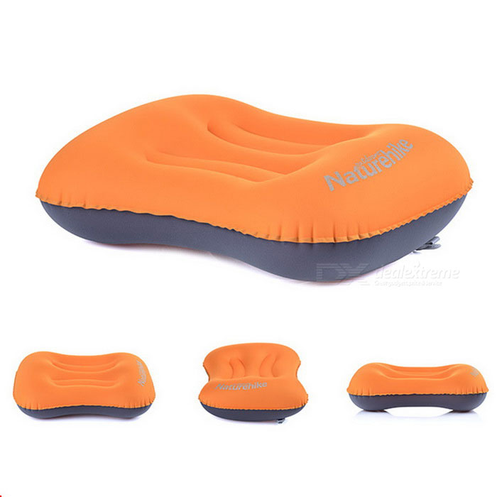 NatureHike NH15T016-Z Rectangular inflable TPU almohada-naranja