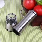 Stainless Steel Manual Hand Operated Pepper Mill Grinder - Silver