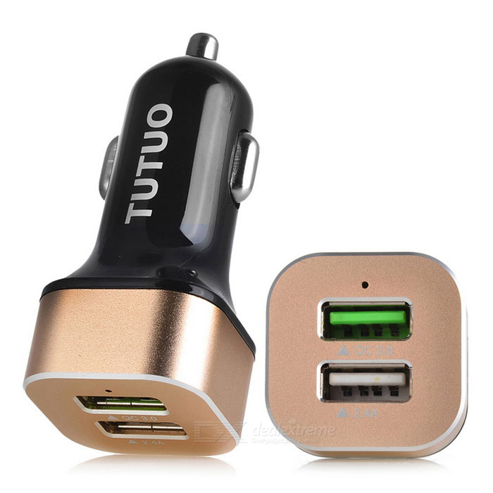 Tutuo QC-114 Dual USB Port Car Charger for Cellphone / Tablet