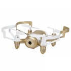 JXD 512DW 2.4GHz Wi-Fi FPV 4-CH Mini RC Quadcopter - Gold + White