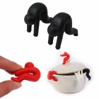 2 PCS Silicone Anti-Overflow Devices for Cups Bowls Lid Lift - Black