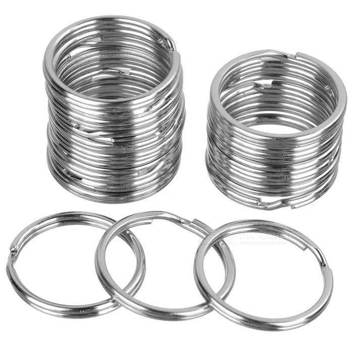 Buy 20mm Round Metal Iron Split Key Rings - Silver (20 PCS) with Litecoins with Free Shipping on Gipsybee.com