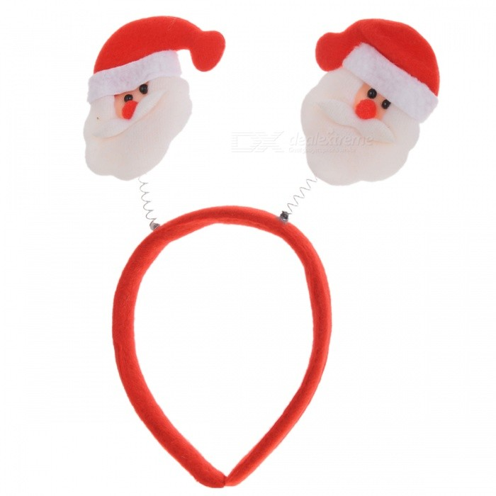 Cute Snowmen as Antlers Style Head Hair Band for Christmas DecorationChristmas Gadgets<br>Form  ColorRedMaterialCloth + plasticQuantity1 DX.PCM.Model.AttributeModel.UnitSuitable holidaysChristmasPacking List1 * Head band<br>