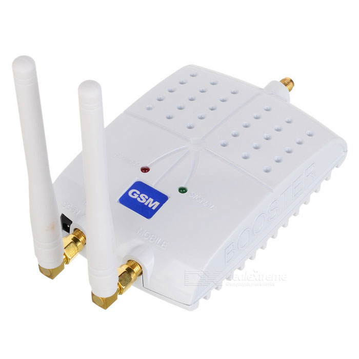 GSM Cell Phone Signal Booster / Amplifier / Receiver - White (US Plugs)