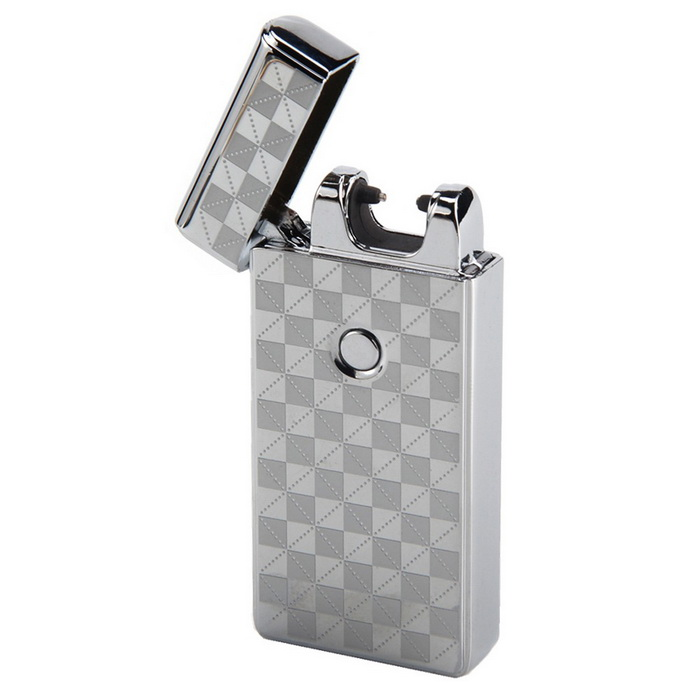 MAIKOU Single Arc USB Rechargeable Metal Pulse Lighter - Square SilverOther Lighters<br>Form  ColorSquare silverMaterialMetalQuantity1 DX.PCM.Model.AttributeModel.UnitShade Of ColorSilverTypeUSBFlame ColorVioletWindproofYesPower SupplyRechargeable BatteryCharging Time4~5 DX.PCM.Model.AttributeModel.UnitPacking List1 * Lighter1 * USB cable (20cm)<br>