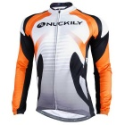Nuckily Men's Fleece Long-Sleeve Jersey + Pants Set - Orange + White