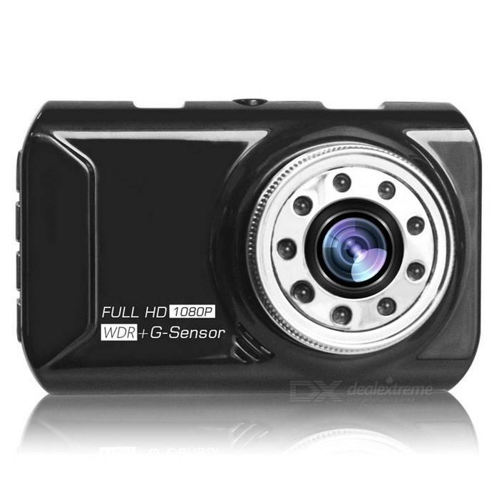 "FH05 3"" 5.0MP Car DVR Recorder w/ Ultra Strong Night Vision  - Black"