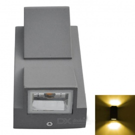 JIAWEN-Outdoor-IP65-2-LED-2-*-3W-Warm-White-Light-Wall-Light-GrayBlack