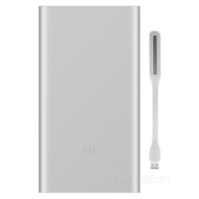 Xiaomi 10000mAh Silver Quick Charge Mobile Power II + LED Light -White