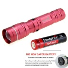 FandyFire Outdoor Sports XR-E R2 LED Flashlight Cold White - Deep Pink