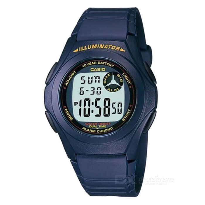 Casio F-200W-2ADF Men's Digital Sports Watch - Blue/Red (Without Box)