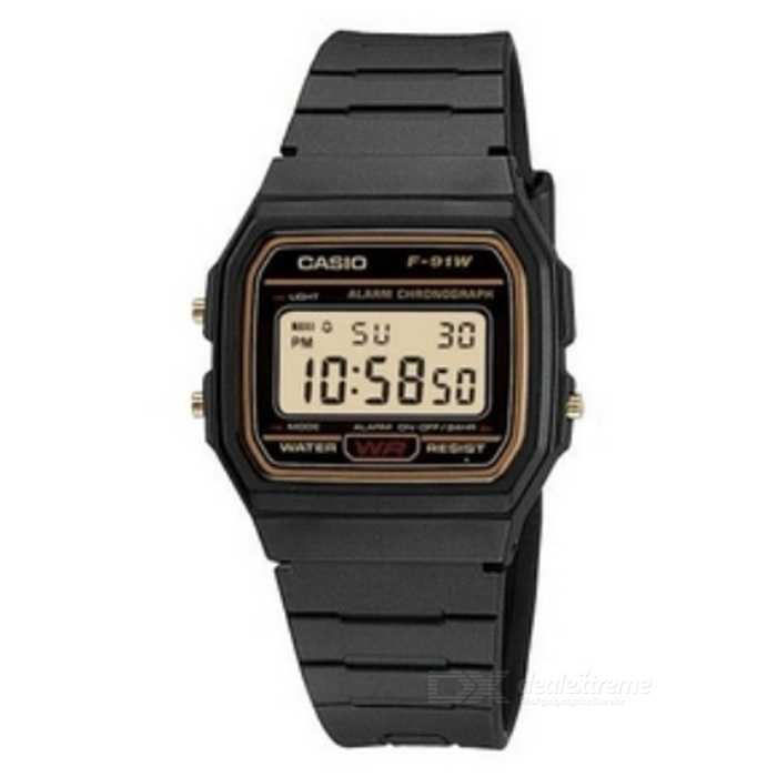 Casio F-91WG-9QDF Men's Digital Sport Watch-Black/Orange (Without Box)