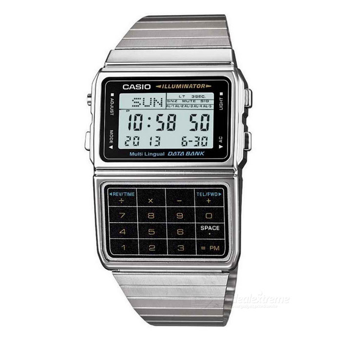 Buy Casio DBC-611-1DF Databank Calculator Watch-Silver+Black (Without Box) with Litecoins with Free Shipping on Gipsybee.com