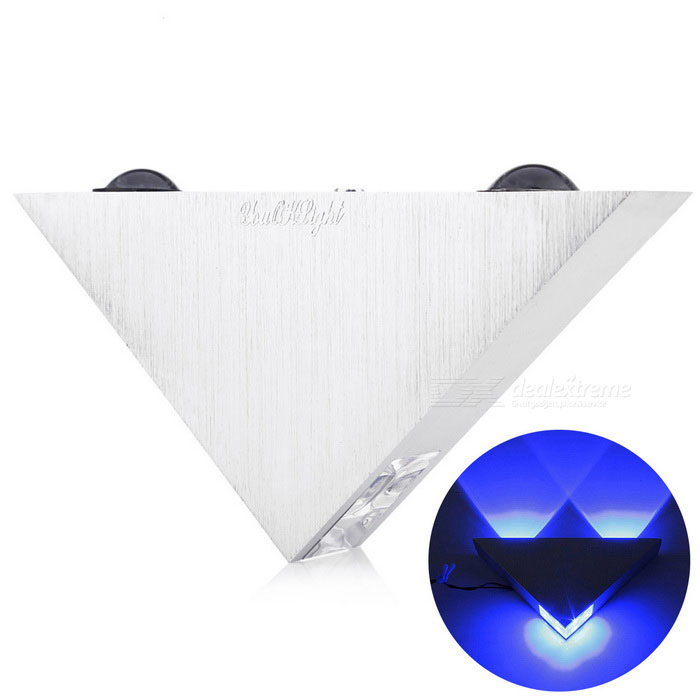 Buy YouOKLight YK2228 3-LED 3W Triangle Decorative Wall Lamp Blue Light with Litecoins with Free Shipping on Gipsybee.com
