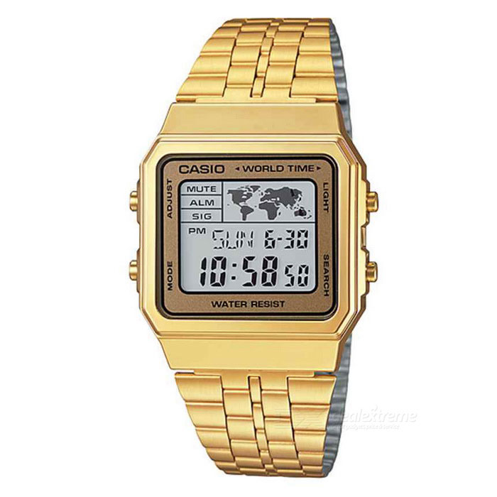 Casio A500WGA-9DF Stainless Steel Digital Watch - Gold (Without Box)