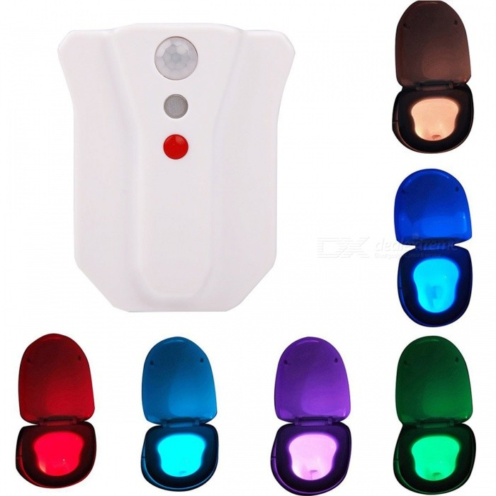 YouOKLight Waterproof 8-Color Motion Activated Sensor Toilet LightLED Nightlights<br>Form  ColorWhiteModelYK2249MaterialABSQuantity1 DX.PCM.Model.AttributeModel.UnitPower1WRated VoltageOthers,DC 4.5 DX.PCM.Model.AttributeModel.UnitConnector TypeOthersColor BINRGBEmitter TypeLEDTotal Emitters1DimmableYesBeam Angle360 DX.PCM.Model.AttributeModel.UnitInstallation TypeWall MountPacking List1 * Motion-activated nightlight (Batteries Not Included)<br>