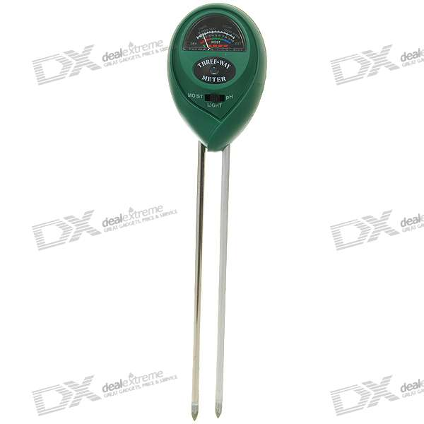Buy Dual-Probe Soil PH/Moisture/Light Intensity Meter for Gardening -Green with Litecoins with Free Shipping on Gipsybee.com