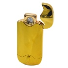 Pebbles Style USB Charging Double-Sided Electronic Lighter - Gold