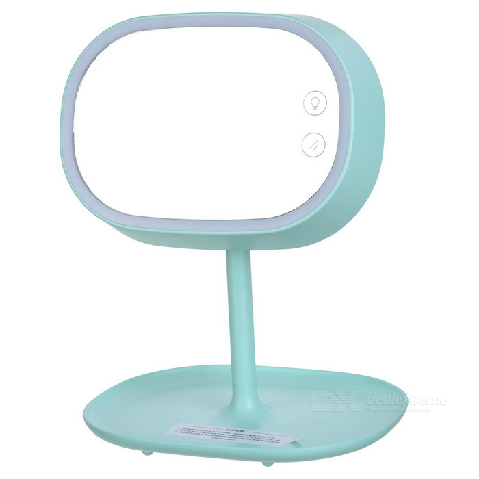 Rechargeable LED Makeup Mirror Lamp for Woman Bedroom - Mint Green