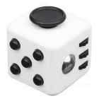 Fidget Dice Cubic Toy for Focusing / Stress Relieving - White + Black
