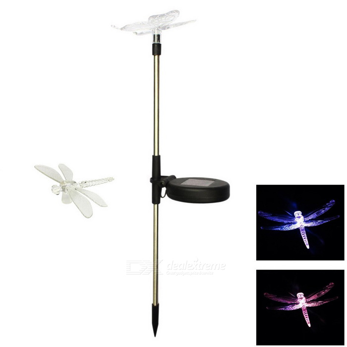 MLSLED Dragonfly RGB Colorful LED Solar Inserted Garden LightSolar Lamps<br>Form  ColorTransparentModelMLS-CDD-0.5W-01MaterialAluminum + PCQuantity1 DX.PCM.Model.AttributeModel.UnitWaterproof LevelIP44Emitter Type3528 SMD LEDPower0.5 DX.PCM.Model.AttributeModel.UnitWorking Voltage   1.2 DX.PCM.Model.AttributeModel.UnitWorking Current300m DX.PCM.Model.AttributeModel.UnitBattery Capacity300 DX.PCM.Model.AttributeModel.UnitLumens20~40 DX.PCM.Model.AttributeModel.UnitBattery Charging Time4~6Working Time6~10 DX.PCM.Model.AttributeModel.UnitPacking List1 * LED Light<br>