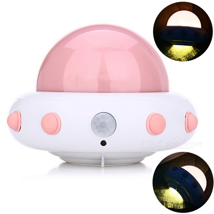 YouOKLight YK2231 UFO Shape 5-LED Cold White Sensor Night Lamp - PinkLED Nightlights<br>Form  ColorPinkModelYK2231-PinkMaterialABSQuantity1 DX.PCM.Model.AttributeModel.UnitPower1WRated VoltageOthers,DC 5 DX.PCM.Model.AttributeModel.UnitConnector TypeOthersColor BINCold WhiteEmitter TypeLEDTotal Emitters5Color Temperature6000KDimmableNoBeam Angle120 DX.PCM.Model.AttributeModel.UnitInstallation TypeWall MountPacking List1 * LED night light1 * USB cable (1.2m / 3.93ft)1 * Hanging base2 * Double-sided adhesive tapes<br>