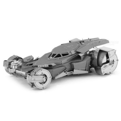 DIY Puzzle 3D Assembled Batmobil Model Car Educational Toy - Silver