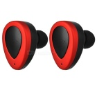 FreeStereo Twins Wireless Bluetooth v4.1 Auriculares In-Ear - Rojo + Negro