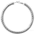 Fashion Women's Alloy Large Hoop Earrings - Silver (Pair)