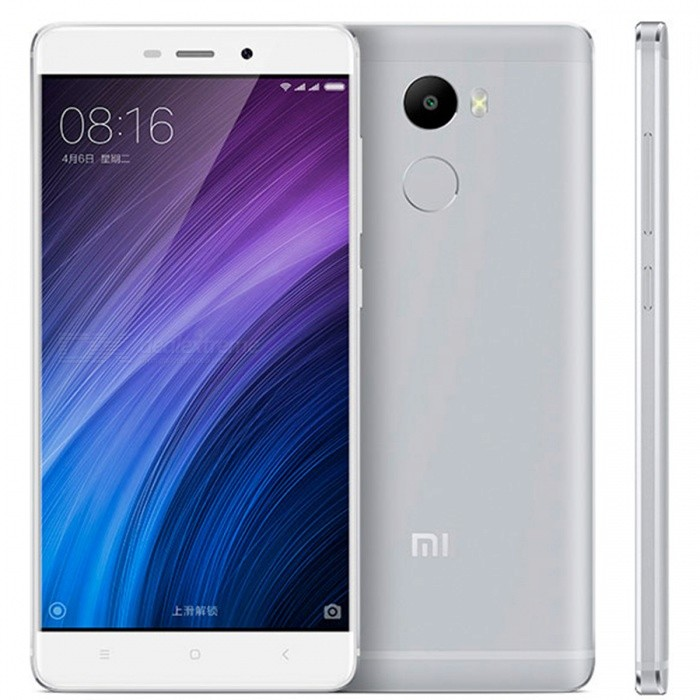 Xiaomi Redmi 4 Octa-Core 5 Dual SIM Phone 2GB RAM 16GB ROM - WhiteAndroid Phones<br>Form  ColorWhiteRAM2GBROM16GBBrandXiaomiModelRedmi 4Quantity1 DX.PCM.Model.AttributeModel.UnitMaterialMetalShade Of ColorWhiteTypeBrand NewPower AdapterUS PlugHousing Case MaterialMetalTime of Release2016, NovemberNetwork Type2G,3G,4GBand DetailsGSM B2/B3/B5/B8; WCDMA B1/B2/B5/B8; TD-SCDMA B34/B39; CDMA2000/1X BC0; FDD-LTE B1/B3/B7; TD-LTE B38/B39/B40/B41(2555-2655MHz)Data TransferGPRSWLAN Wi-Fi 802.11 a,b,g,n,Dual band Wi-Fi (2.4GHz / 5GHz)SIM Card TypeMicro SIM,Nano SIMSIM Card Quantity2Network StandbyDual Network StandbyGPSBDSNFCNoInfrared PortYesBluetooth VersionBluetooth V4.1Operating SystemAndroid 6.0CPU ProcessorSnapdragon 430 Octa-Core, 1.4GHzCPU Core QuantityOcta-CoreGPUAdreno 505, 450MHzLanguageEnglish, Simplified Chinese, Traditional Chinese, Dutch, Indonesian, Malay, Persian, Danish, German, Estonian, Spanish, French, Zulu, Italian, Swahili, Latvian, Lithuanian, Hungarian, Norwegian, Polish, Portuguese, Romansh, Slovak, Vietnamese, Turkish, Russian, Arabic, Korean, JapaneseAvailable Memory12.5GBMemory CardYesMax. Expansion Supported128 GBSize Range5.0~5.4 inchesTouch Screen TypeCapacitive ScreenScreen Resolution1280*720Multitouch10Screen Size ( inches)5.0Screen Edge2.5D Curved EdgeCamera Pixel13.0MPFront Camera Pixels5 DX.PCM.Model.AttributeModel.UnitVideo Recording Resolution1080P / 720P, 30fpsFlashYesAuto FocusYesTouch FocusYesOther Camera FunctionsSupport PDAF phase focus<br>Dark image enhancement technique<br>HDR high dynamic range adjustment technology<br>Panorama mode<br>Continuous shooting mode<br>Facial recognition<br>Real-time filter picturesOther Camera Features5 chip lens, aperture f2.2,Talk Time6 DX.PCM.Model.AttributeModel.UnitStandby Time60 DX.PCM.Model.AttributeModel.UnitBattery Capacity4100 DX.PCM.Model.AttributeModel.UnitBattery ModeNon-removableQuick ChargeYesfeaturesWi-Fi,GPSSensorG-sensor,Proximity,AccelerometerWaterproof LevelIPX0 (Not Protected)Dust-proof LevelNoShock-proofNoI/O InterfaceMicro USB,SIM SlotSoftwareGoogle storeFormat SupportedPCM, AAC / AAC+ / eAAC+, MP3, AMR-NB/WB, FLA, WAV, H.265 / HEVC (Main profile), H.264 (Baseline / Main / High profile), MPEG4 (Simple profile / ASP), VC-1 (Simple / Main / Advanced profile)JAVANoTV TunerNoRadio TunerNoWireless ChargingNoReference Websites== Will this mobile phone work with a certain mobile carrier of yours? ==Packing List1 * Cell phone1 * Type-C cable (100cm)1 * Charger (US plug / 100~240V / 5V 2A)1 * English user manual<br>